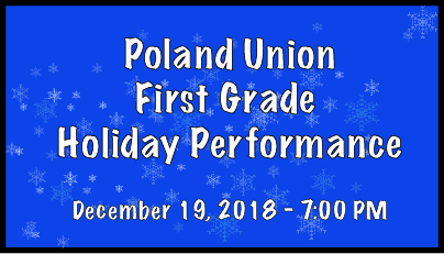 First Grade Holiday Performance Ad