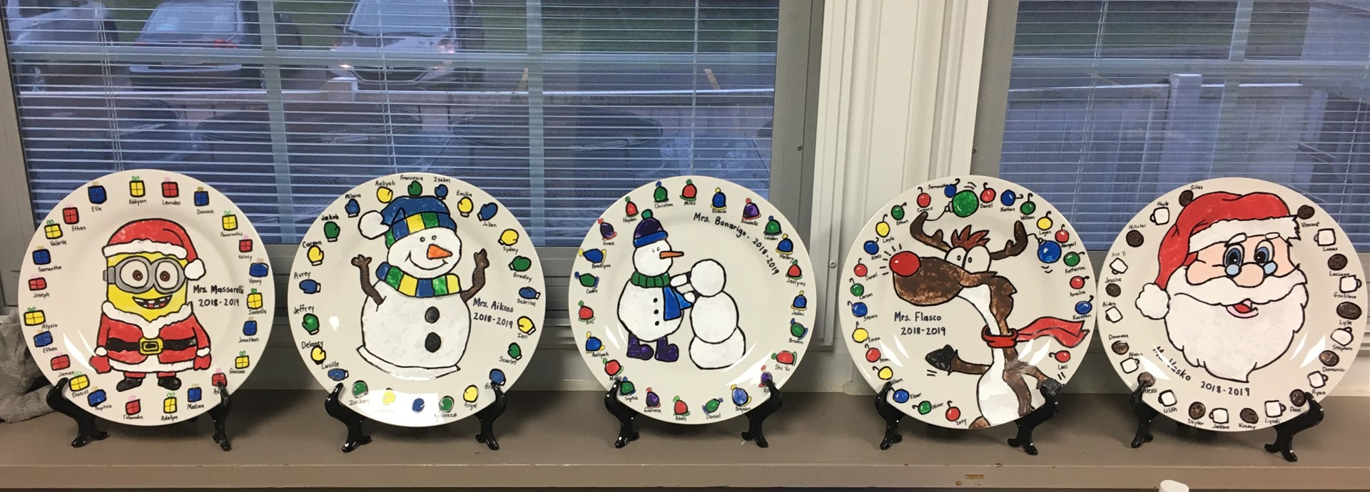 First Grade Holiday Plates